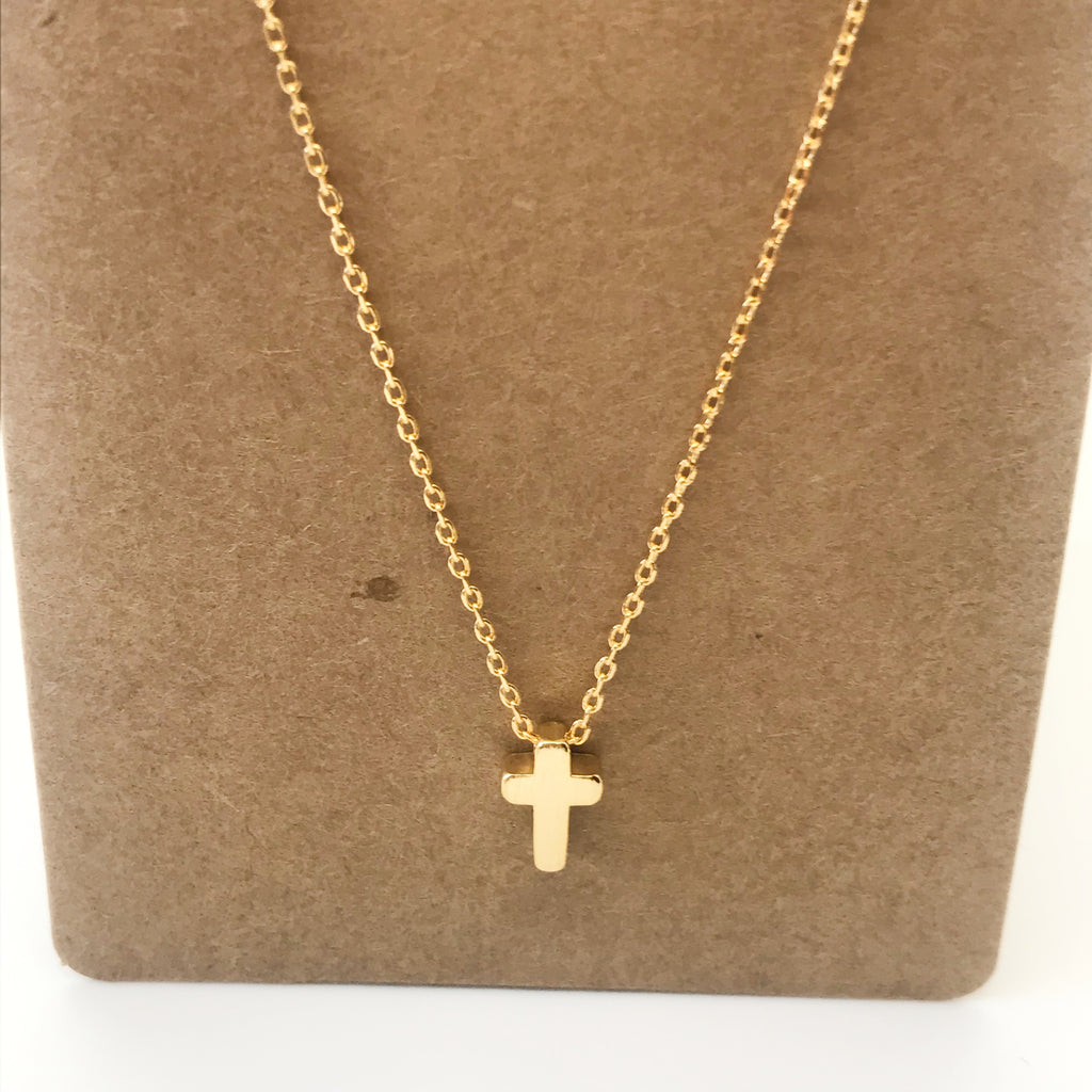 Cross Necklace- Gold