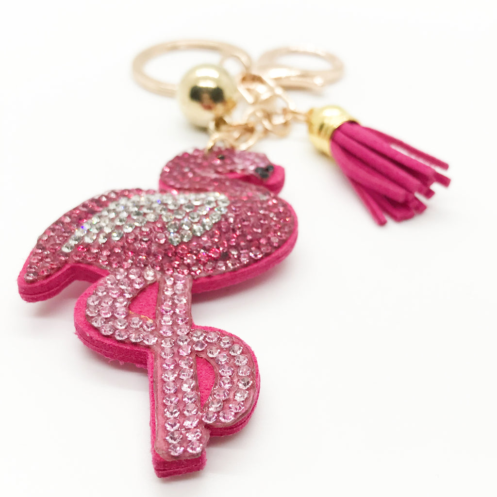 Flashy Flamingo Keychain