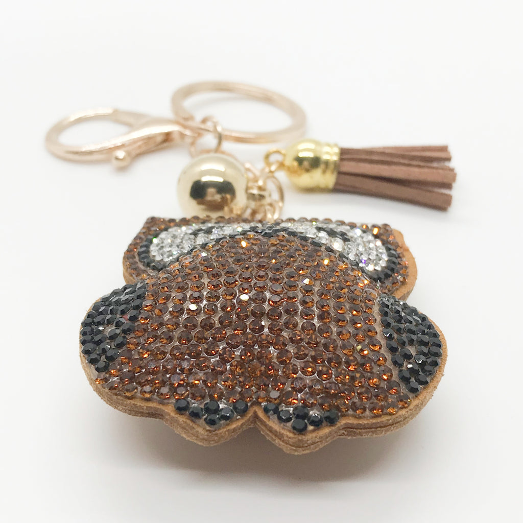 Wide Eyed Owl Keychain-Brown