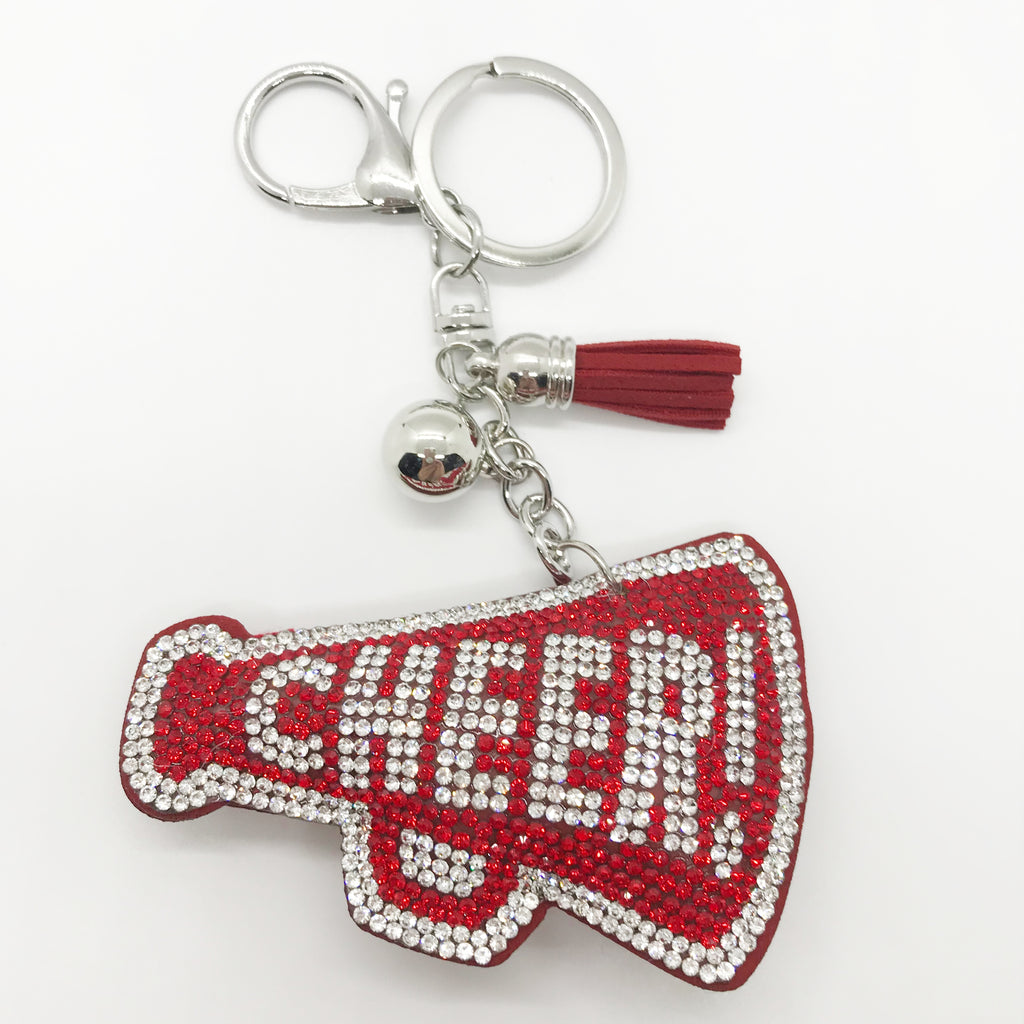 "Red ""CHEER"" Keychain"