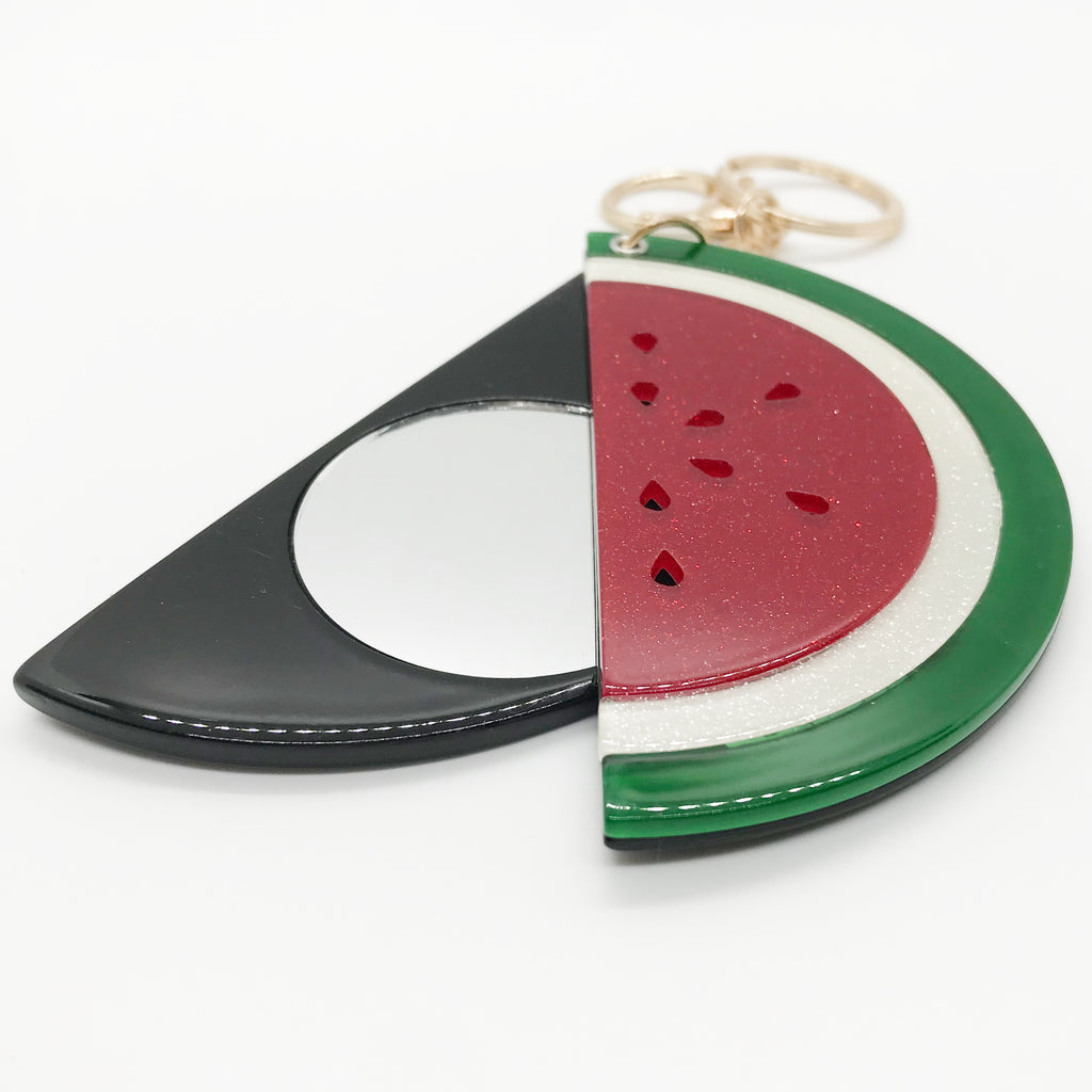 Watermelon Slice Keychain W/ Mirror