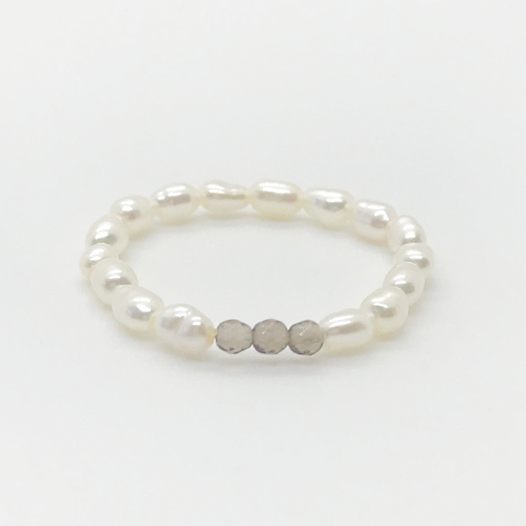 Mini Pearl Beaded Ring