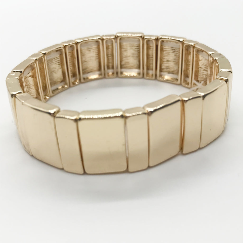 Bright Gold Block Bracelet