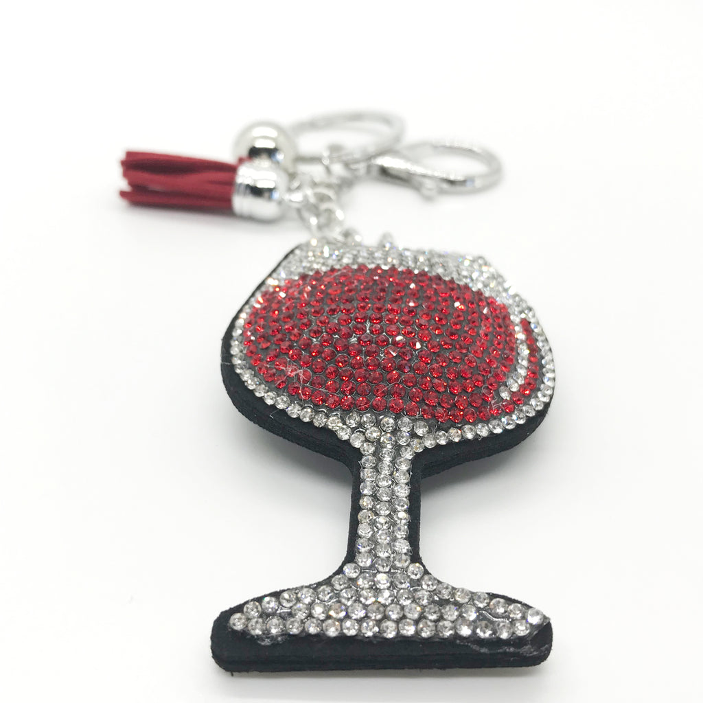 Glass of Red Keychain