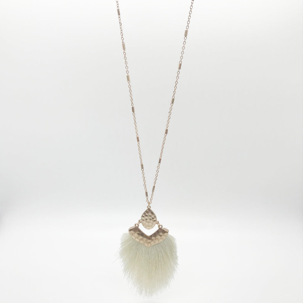 Large Ivory Tassel Necklace