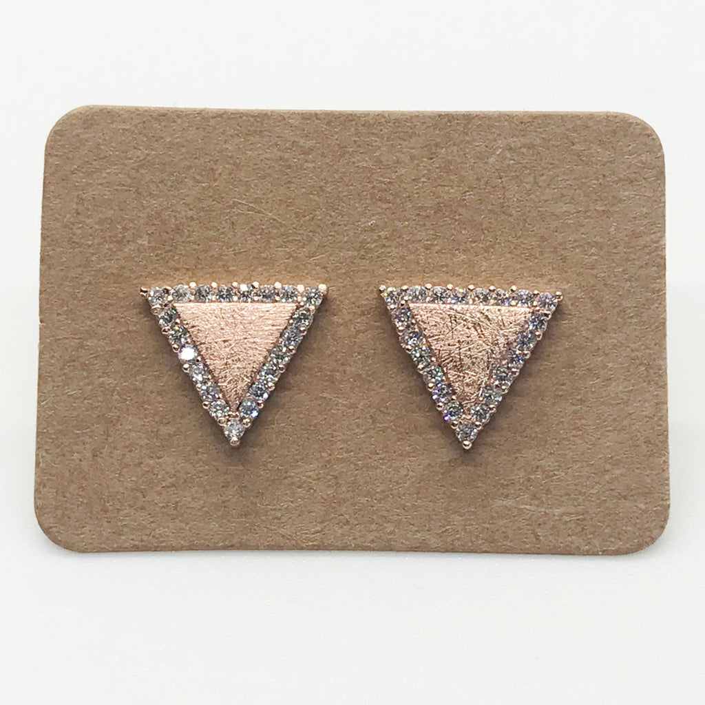 Bling Triangles- Rose Gold