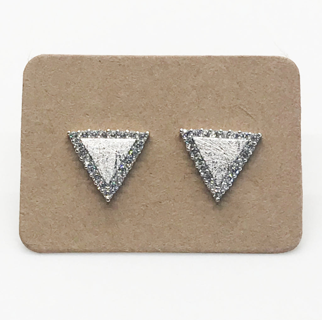 Bling Triangles- Silver