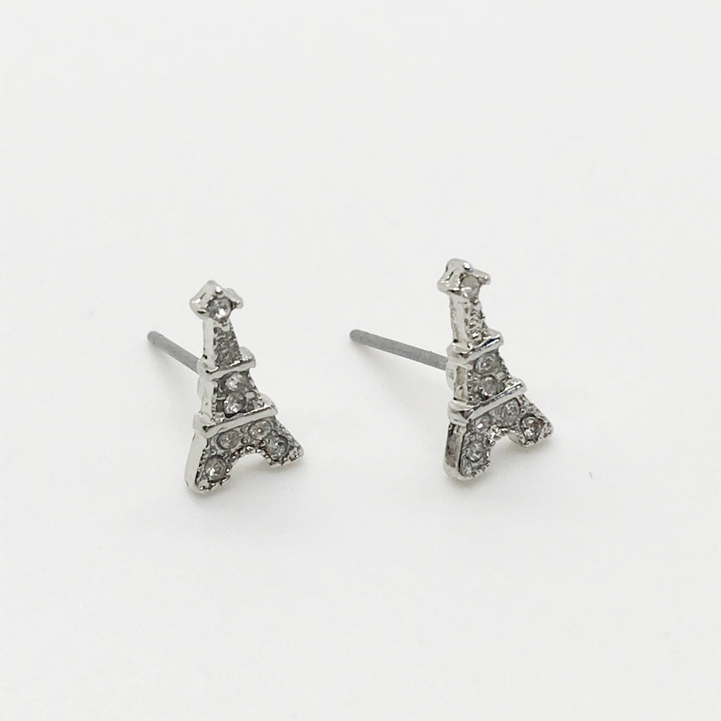 Bling Eiffel Tower Earring