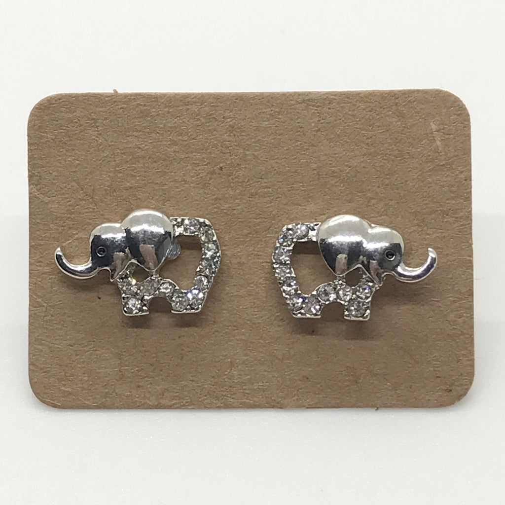 Bling Elephant Earring