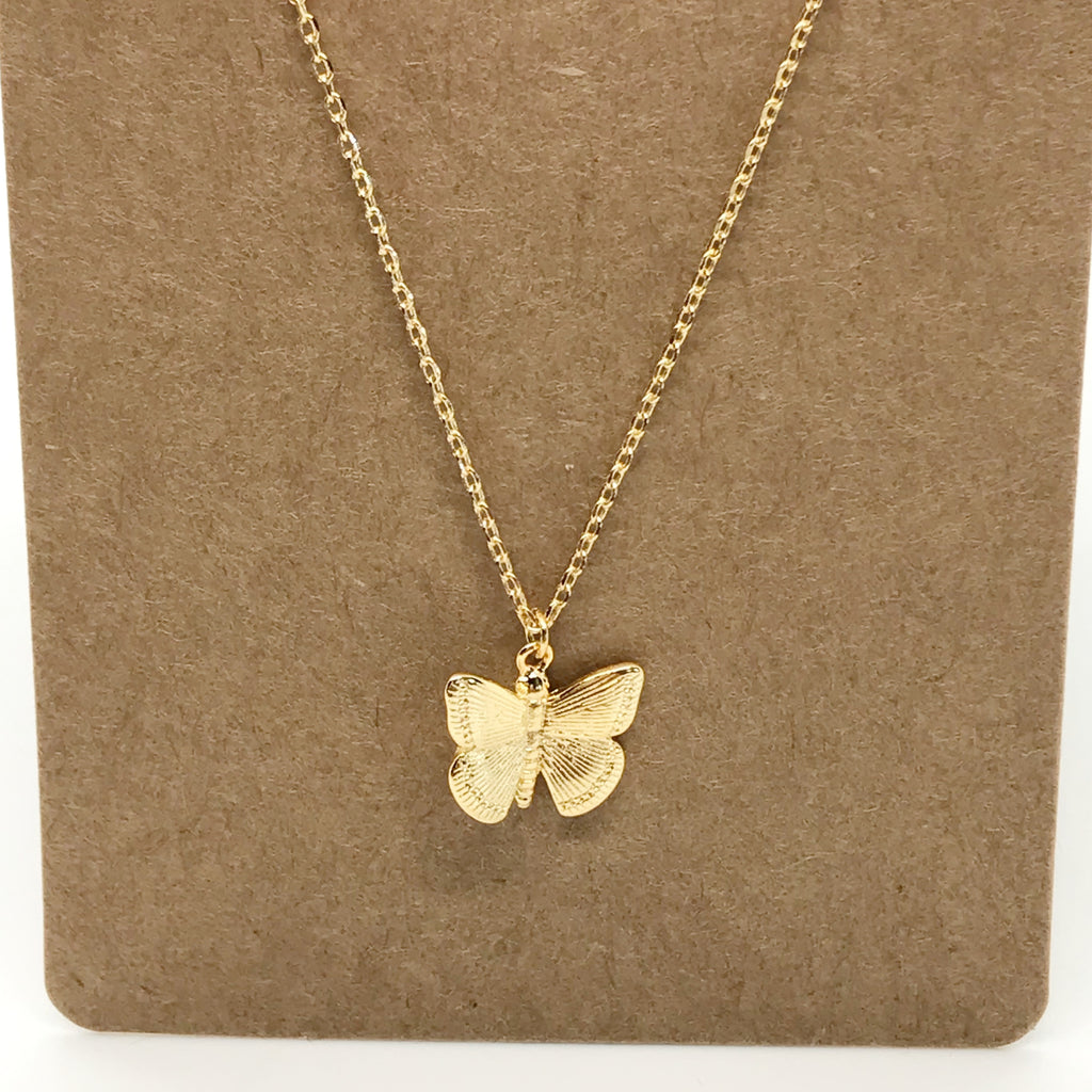 Butterfly Necklace-Gold