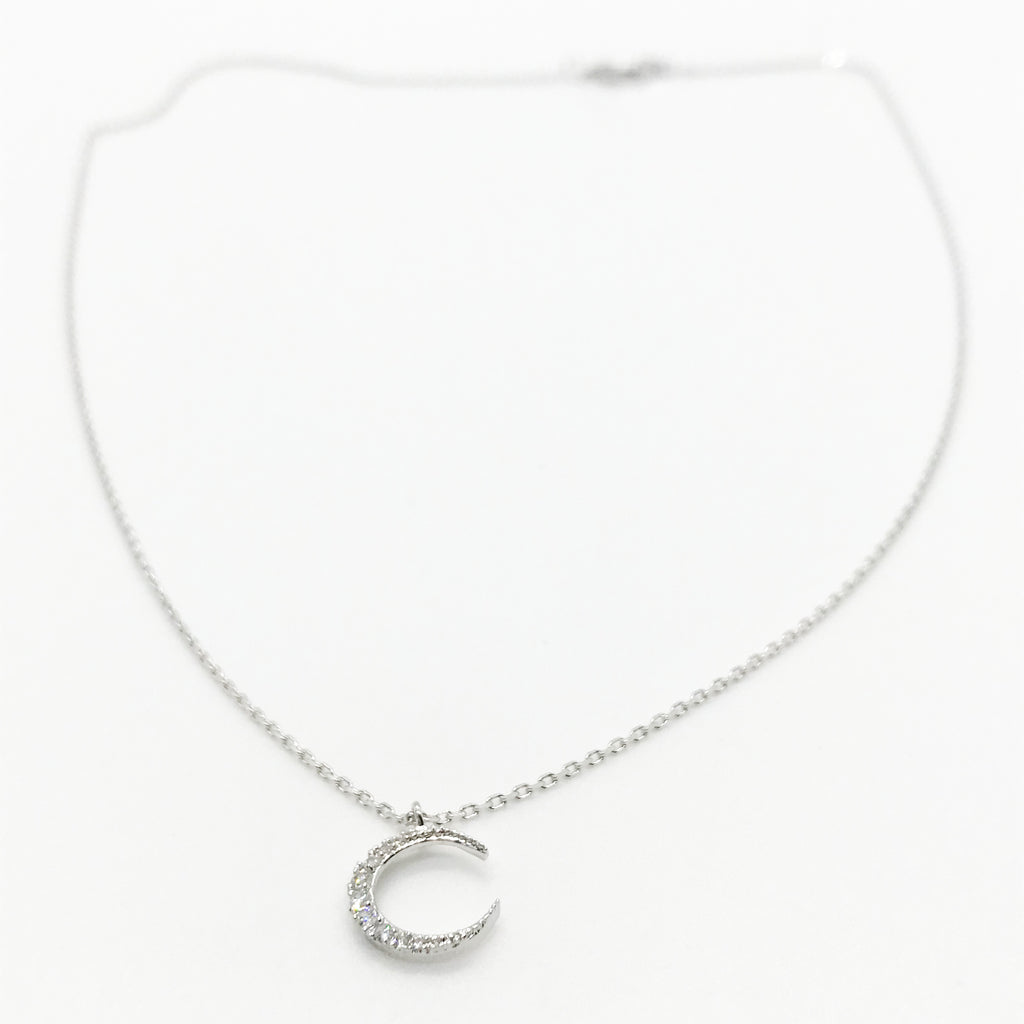 Bling Crescent Moon Necklace