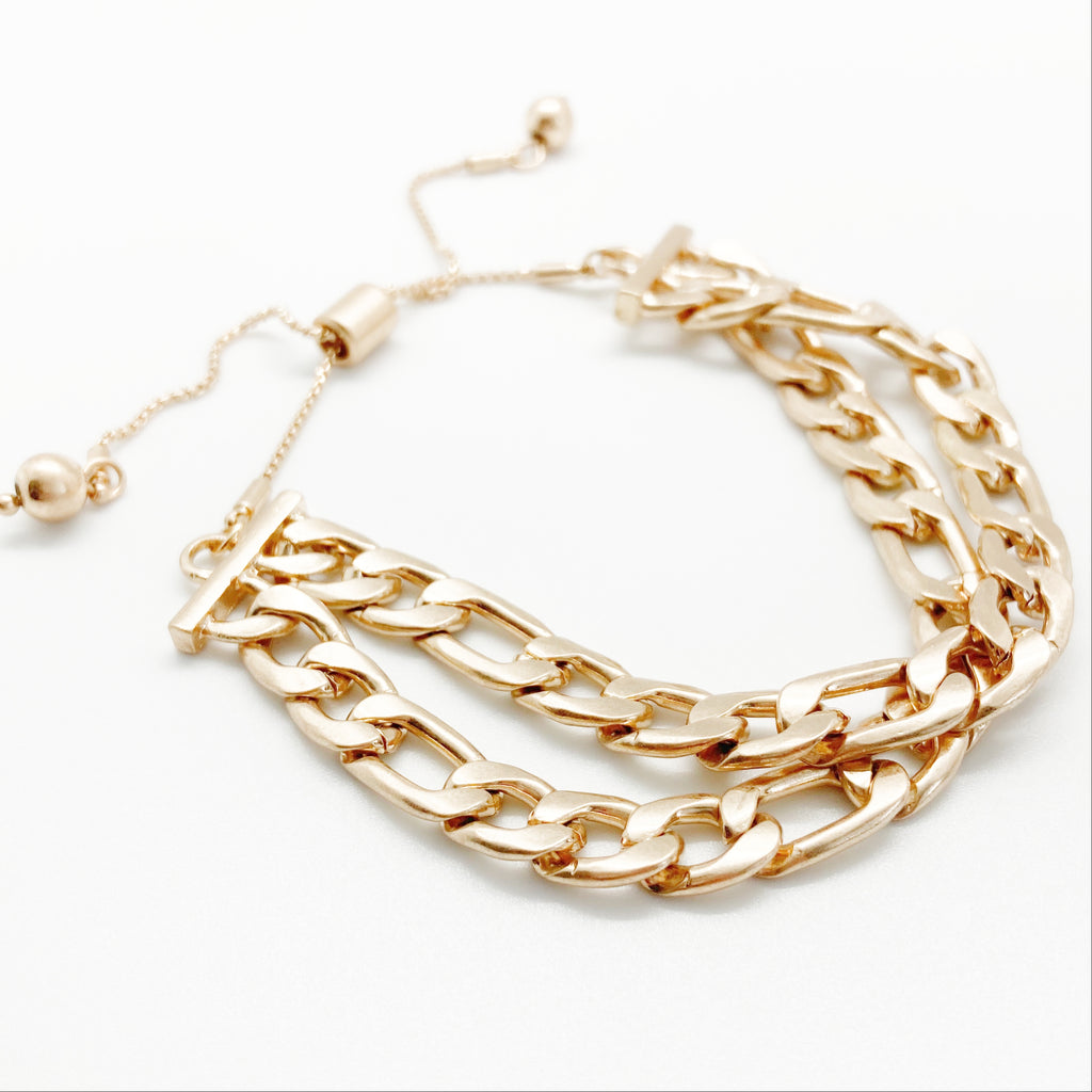 Layered Chain Bracelet-Gold