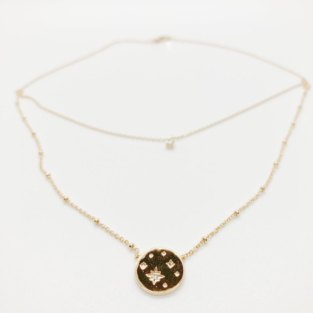 Starry Night Layered Necklace-Gold