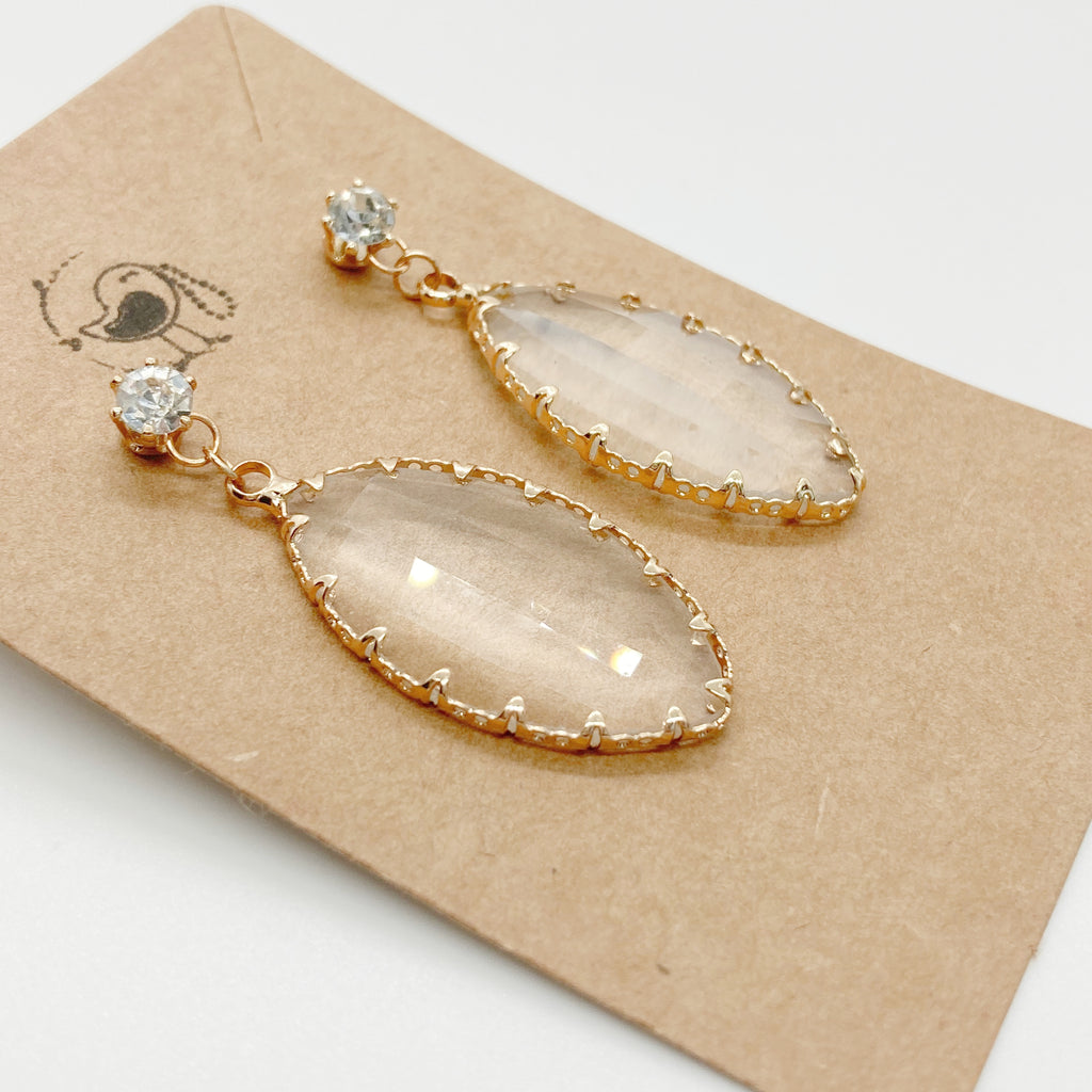 Sparkling Clear Stone Earrings