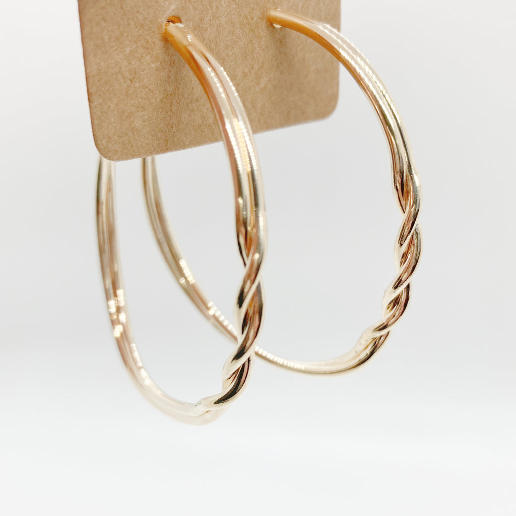 Twisty Hoops-Gold