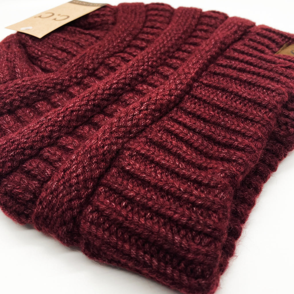 Basic Beanie-Dark Crimson