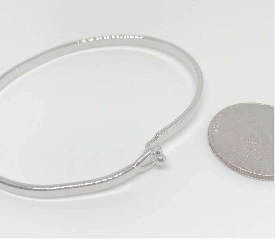 """LOVE AND LIGHT"" Message Bracelet-Silver"