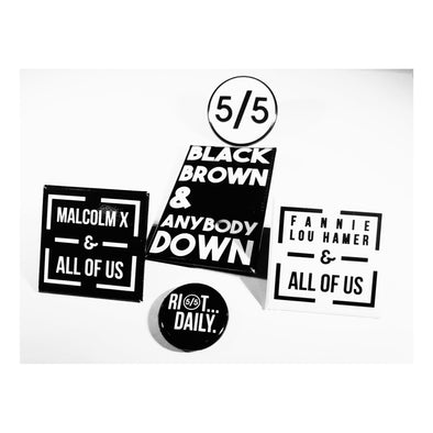 blackfivefifths - The BLK 5 - button set