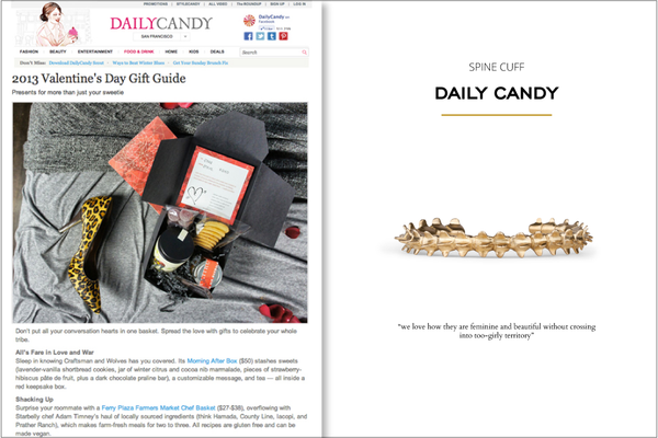 Corey Egan Spine Cuff in Daily Candy 2012
