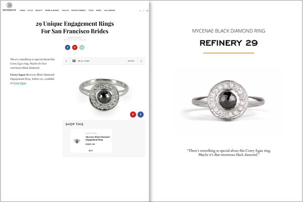 Corey Egan Black Diamond Mycenae Ring on Refinery29 2015