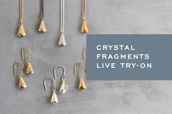 Live Try-On: Crystal Fragment Earrings and Necklaces