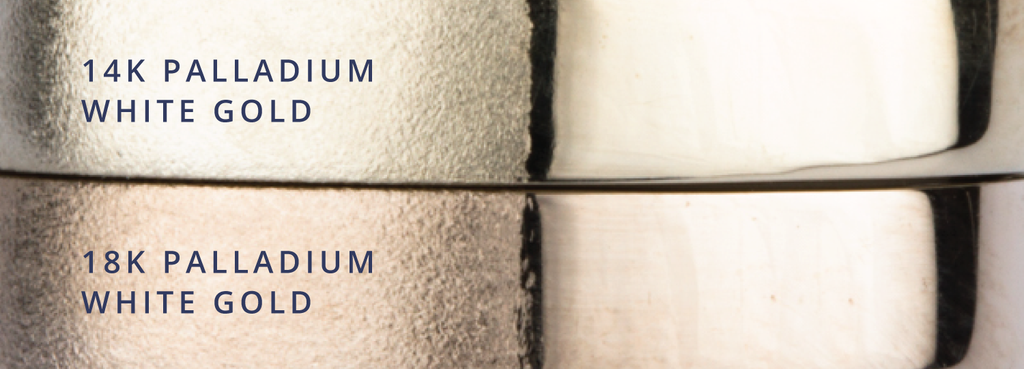 14k Palladium White Gold vs. 18k Palladium White Gold - Precious Metals Comparison by Corey Egan