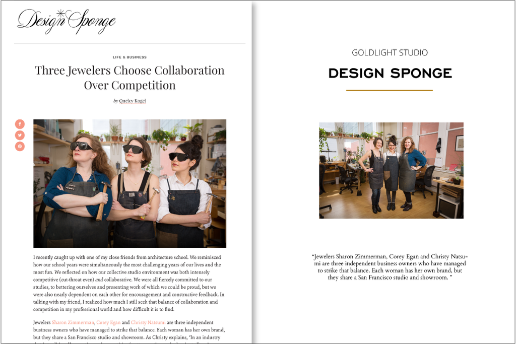 Design Sponge: Three Jewelers choose collaboration over competition