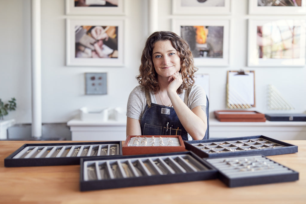 Corey Egan in her Berkeley Studio