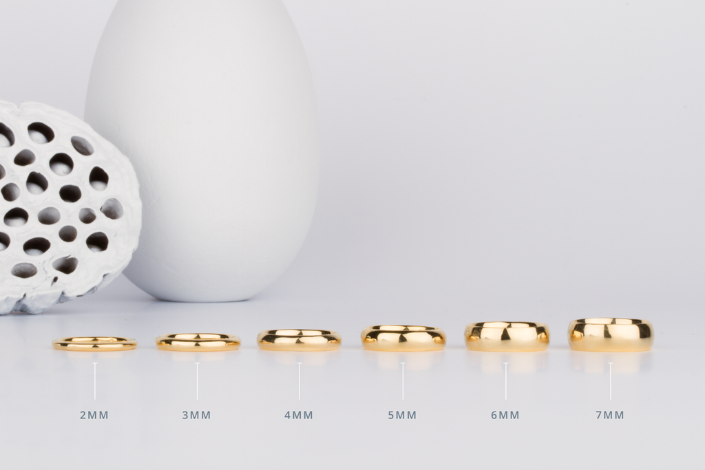 A Visual Comparison of Wedding Band Widths by Millimeter by Corey Egan