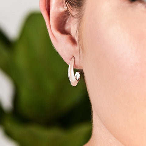 Silver Morph Hoop Earrings