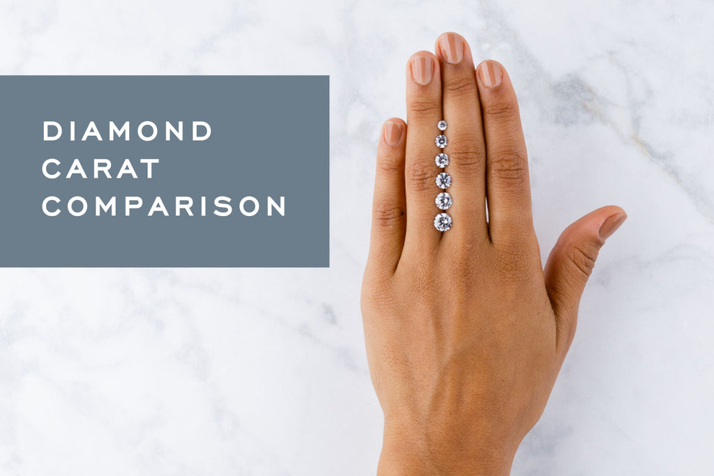 Diamond Carat Comparison A Visual Guide To Different Diamond Sizes