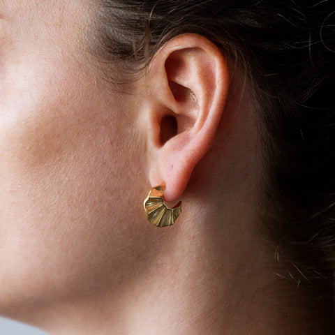 Vermeil wave hoop earrings