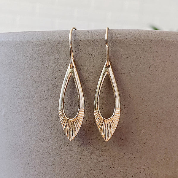 Oblong Vermeil Flux Earrings August Product of the Month