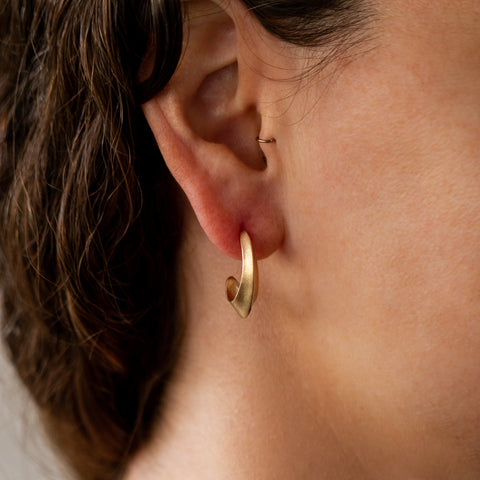 Gold Morph Hoop Earrings