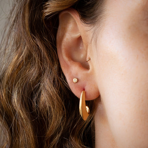 Vermeil morph hoop earrings