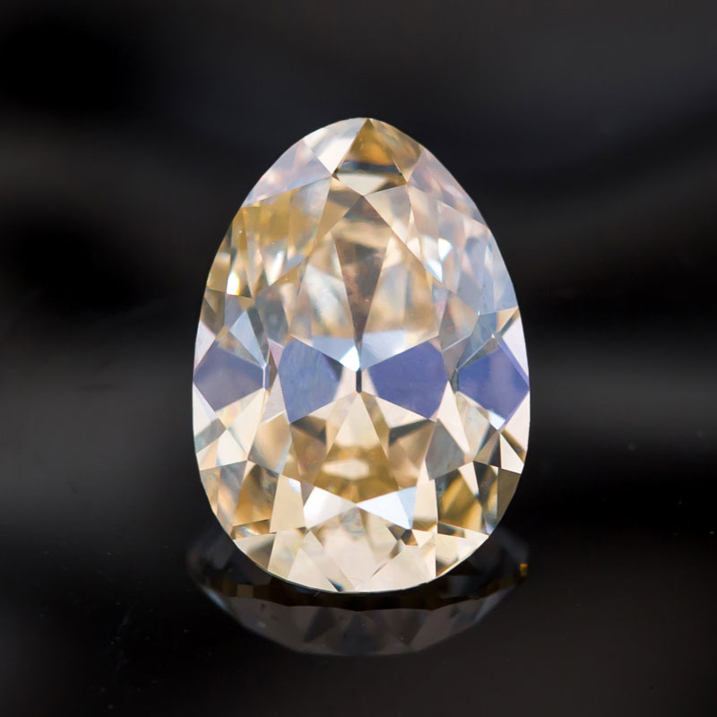 Antique Pear Cut Champagne Diamond by Perpetuum Jewels