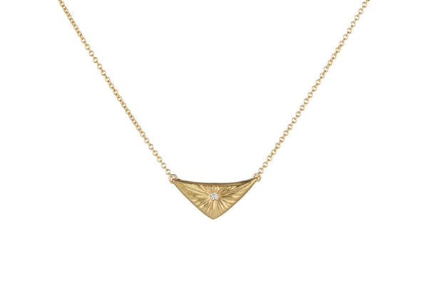 Gold and Diamond Flash Necklace