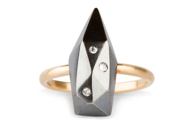 Two Tone Long Fragment Ring