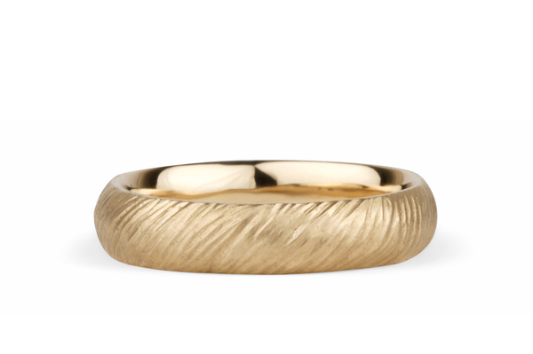 Carved Texture Wedding Band | Mackinac Wedding Band by Corey Egan