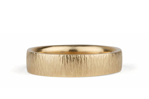 Vertical Hammered Wedding Band | Zion Wedding Band by Corey Egan
