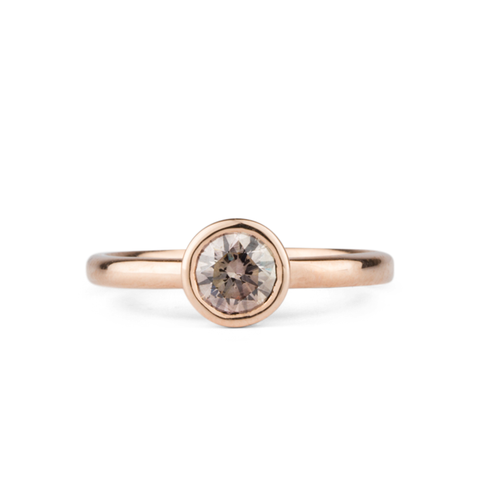 Sutro Champagne Diamond in Rose Gold by Corey Egan