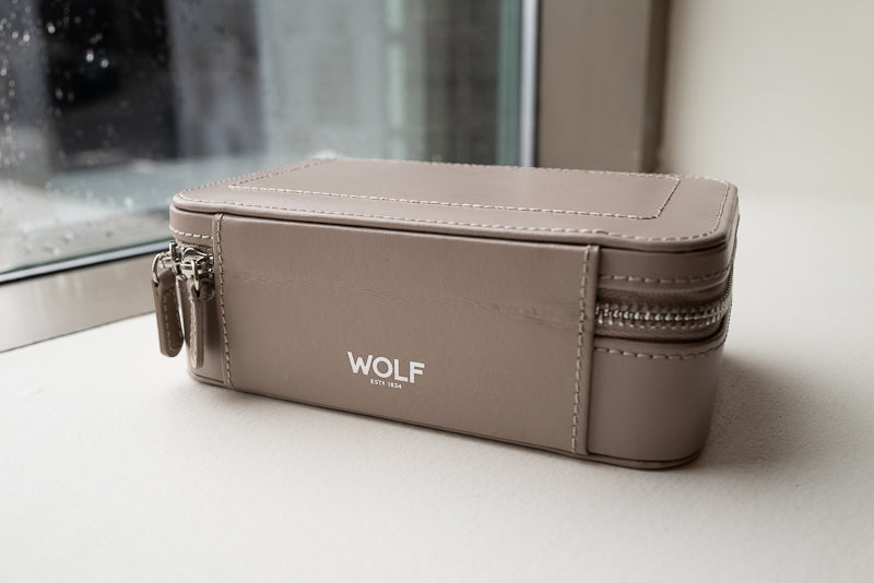 Wolf Sophia Zip Case with Corey Egan Jewelry