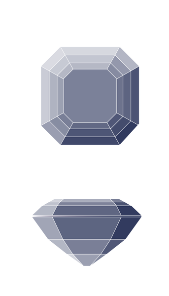 Asscher Diamond Shape Diagram