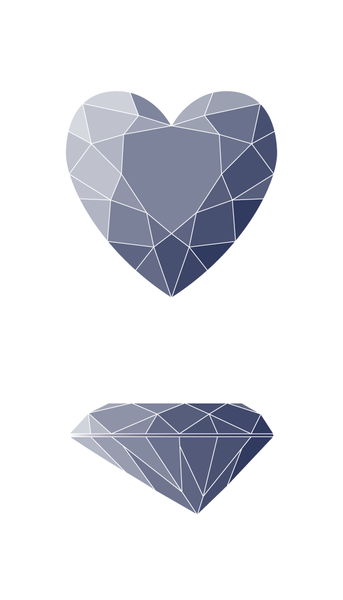 Heart Diamond Shape Diagram