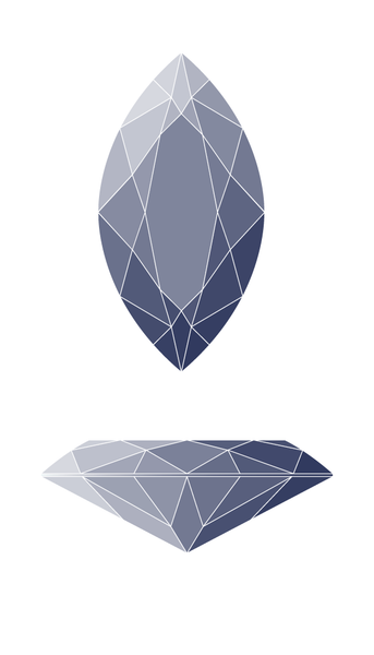 Marquise Diamond Shape Diagram