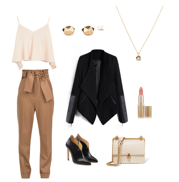 Gold Tiny Fragment Studs and Necklace | What to wear to a work holiday party