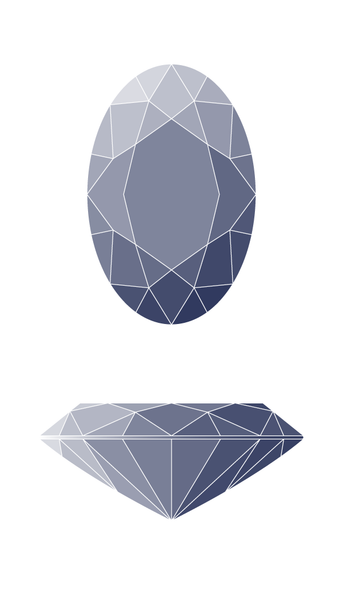 Oval Diamond Shape Diagram
