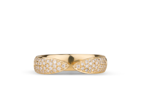 Pave Set Gold Ring