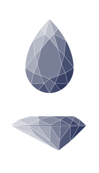 Pear Diamond Shape Diagram
