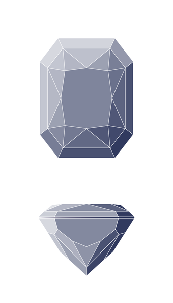 Radiant Diamond Shape Diagram